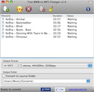Free WMA to MP3 Changer screenshot